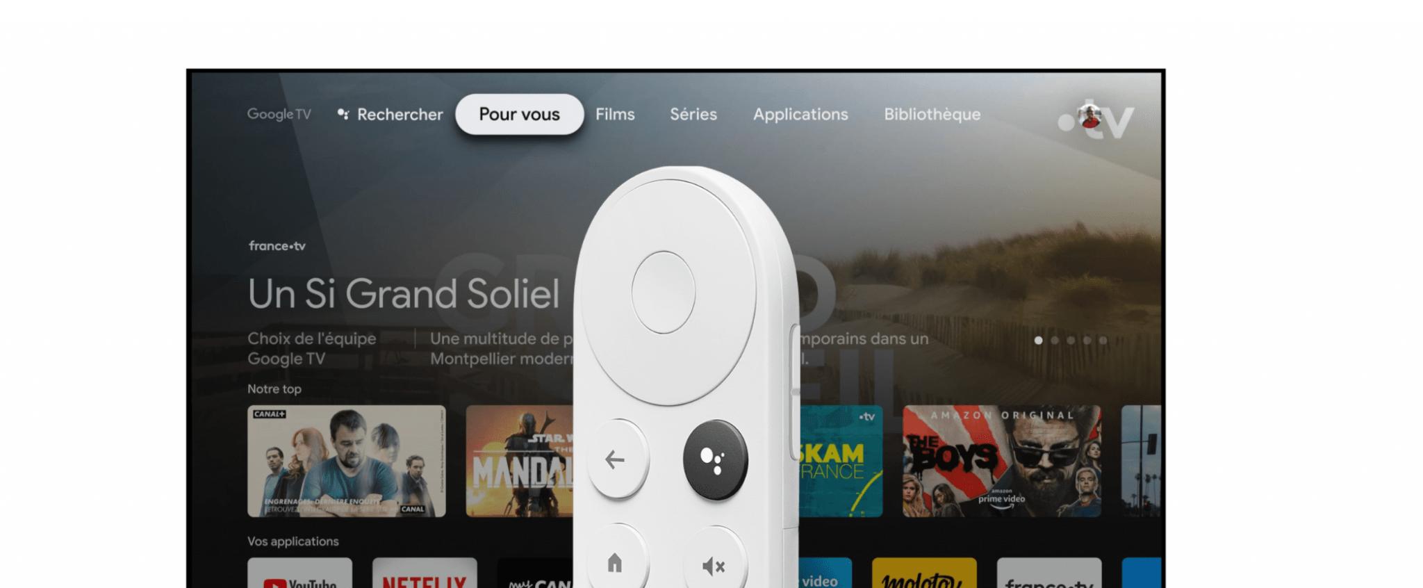 Le Chromecast avec google TV